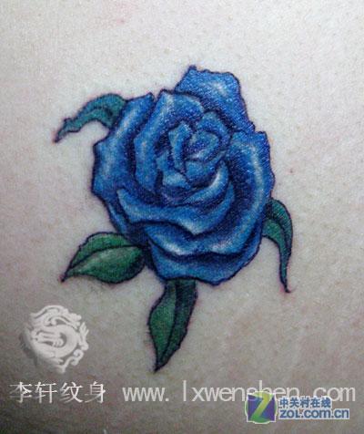 兰花水印-花卉纹身-zol相册