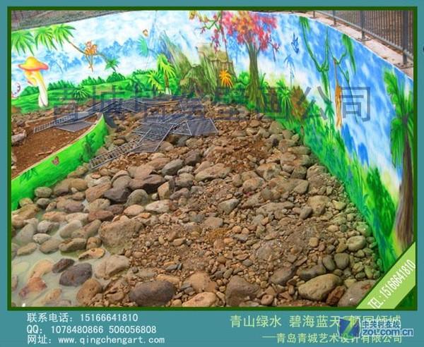 动物园墙体彩绘-青岛墙体彩绘/青岛墙体彩绘公司-zol
